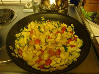 Zucchini Potato Tofu Scramble