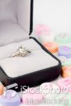 Engagement Ring and Heart Shaped Candy
